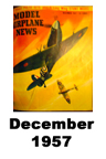 Model Airplane news cover for December of 1957