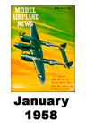Model Airplane news cover for January of 1958