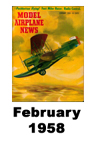 Model Airplane news cover for February of 1958