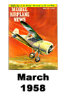 Model Airplane news cover for March of 1958