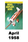 Model Airplane news cover for April of 1958