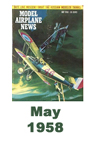 Model Airplane news cover for May of 1958