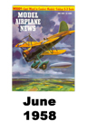 Model Airplane news cover for June of 1958