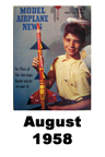 Model Airplane news cover for August of 1958