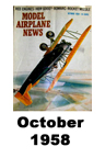 Model Airplane news cover for October of 1958