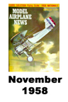Model Airplane news cover for November of 1958