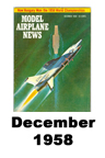 Model Airplane news cover for December of 1958