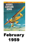 Model Airplane news cover for February of 1959