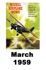 Model Airplane news cover for March of 1959