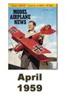 Model Airplane news cover for April of 1959