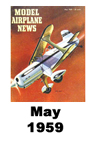 Model Airplane news cover for May of 1959