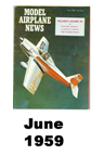 Model Airplane news cover for June of 1959