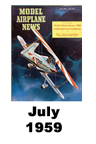 Model Airplane news cover for July of 1959