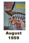 Model Airplane news cover for August of 1959