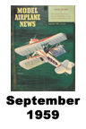 Model Airplane news cover for September of 1959