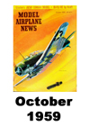 Model Airplane news cover for October of 1959