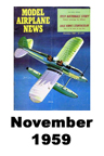 Model Airplane news cover for November of 1959