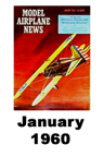 Model Airplane news cover for January of 1960
