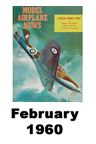 Model Airplane news cover for February of 1960