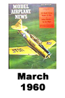 Model Airplane news cover for March of 1960