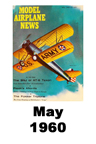 Model Airplane news cover for May of 1960