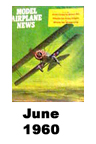 Model Airplane news cover for June of 1960