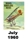 Model Airplane news cover for July of 1960