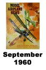 Model Airplane news cover for September of 1960