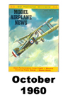 Model Airplane news cover for October of 1960