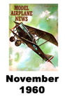 Model Airplane news cover for November of 1960