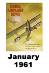 Model Airplane news cover for January of 1961