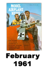 Model Airplane news cover for February of 1961