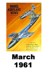 Model Airplane news cover for March of 1961