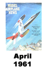 Model Airplane news cover for April of 1961