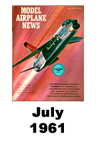 Model Airplane news cover for July of 1961