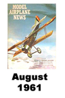 Model Airplane news cover for August of 1961