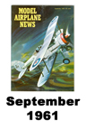 Model Airplane news cover for September of 1961