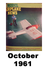 Model Airplane news cover for October of 1961