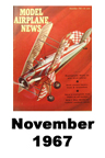 Model Airplane news cover for November of 1961
