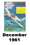 Model Airplane news cover for December of 1961