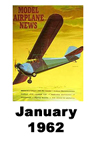 Model Airplane news cover for January of 1962