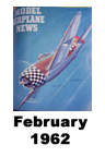 Model Airplane news cover for February of 1962