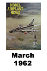 Model Airplane news cover for March of 1962