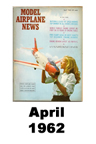 Model Airplane news cover for April of 1962