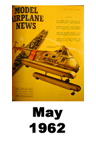 Model Airplane news cover for May of 1962