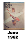 Model Airplane news cover for June of 1962