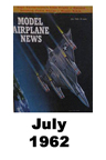 Model Airplane news cover for July of 1962