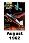 Model Airplane news cover for August of 1962