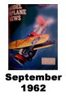 Model Airplane news cover for September of 1962