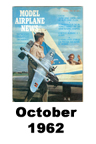 Model Airplane news cover for October of 1962